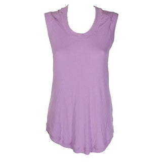 Melissa Mccarthy Plus Size Purple Sleeveless T-Shirt OX