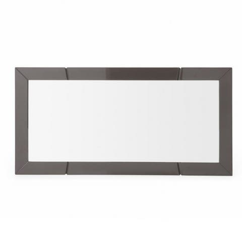 Contemporary style Wall Mirror with Rectangle Framework, Gray