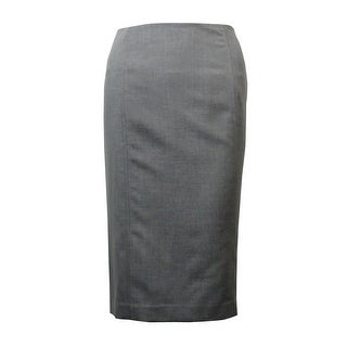 Kasper Women's Dual-Vent Gabardine Pencil Skirt - 10