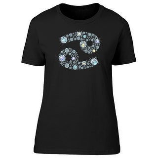 Cancer Zodiac Diamonds Tee Women's -Image by Shutterstock (5 options available)