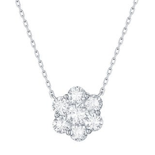 Smiling Rocks 1.47Ct G-H/VS1 Lab Grown Diamond Cluster Necklace