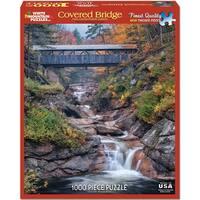 "Jigsaw Puzzle 1000 Pieces 24""X30""-Covered Bridge"