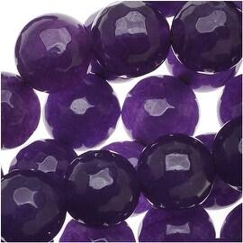 Amethyst Gemstone Beads Purple 8mm Faceted Round (15 Inch Strand)