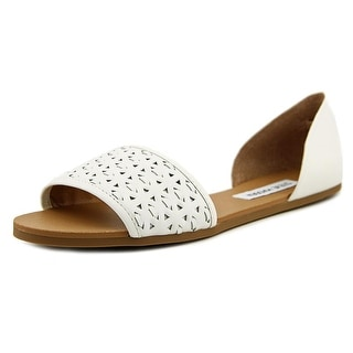 Steve Madden Taylerr Women Open Toe Leather Slides Sandal
