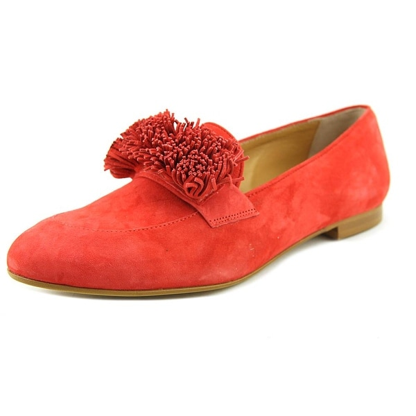 37d6d95378f Shop Mercanti Fiorentini Pom Moc Women Suede Red Moccasins - Free ...