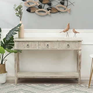 Link to White Washed Wood Three Drawer Console Table Similar Items in Living Room Furniture