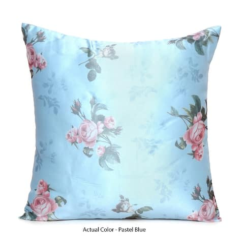 Cushion Cover Floral Unique Home Decor Satin Organza Throw Pillow Case Single Piece
