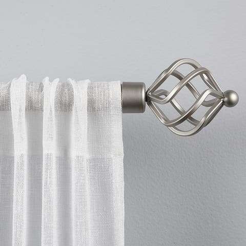 Porch & Den Freret 1-inch Curtain Rod and Finial Set