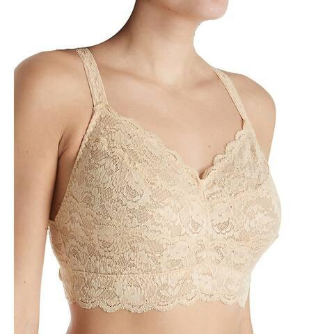 Cosabella Women's Bras Beige Size Large L Lace Wire-Free Bralette
