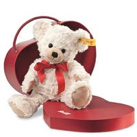 "Steiff Teddy Bear, 9"" Sweetheart Plush Teddy Bear in Heart Shaped Box"