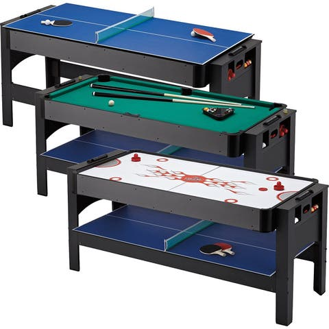 Fat Cat Original 3-in-1, 6-Foot Flip Game Table (Air Hockey, Billiards and Table Tennis) 64-1049
