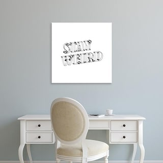 Easy Art Prints 'Stay Weird IV' Premium Canvas Art