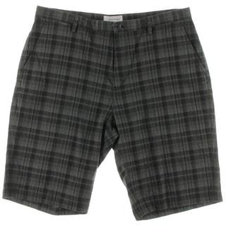Calvin Klein Mens Plaid Flat Front Board Shorts - 36