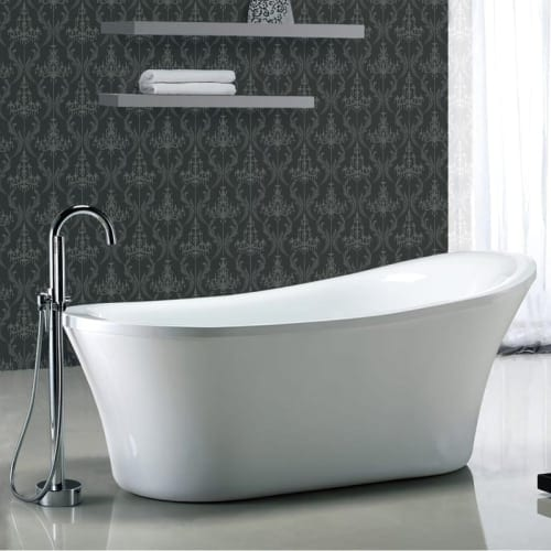 """Miseno MT7035FSO 70-1/16"""" Slipper Style Soaking Bathtub for Free Standing Installations with Reversible Drain - Drain Assembly"""