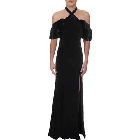 JILL Jill Stuart Womens Evening Dress Satin Formal - Black