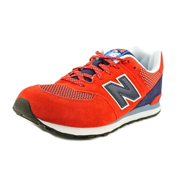 New Balance KL574 Round Toe Synthetic Sneakers