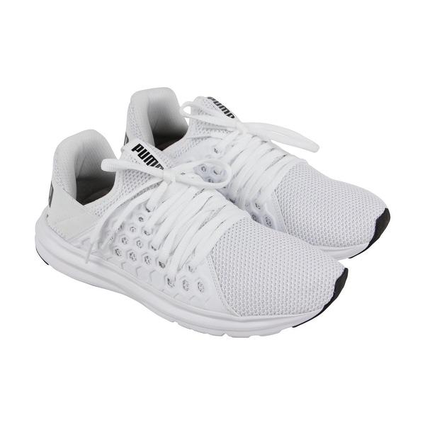 Shop Puma Enzo Nf Mens White Mesh Athletic Lace Up Training Shoes ... 97095d4cc21