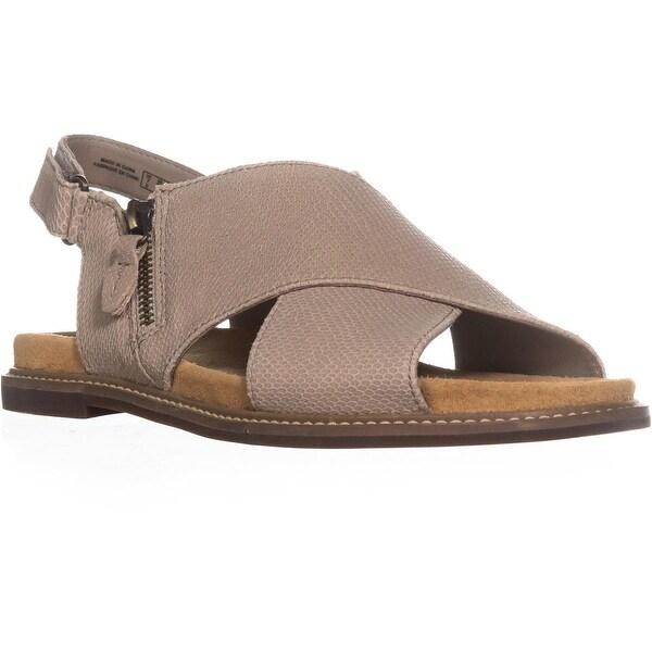 Clarks Corsio Calm Criss Cross Sandals, Sand Leather