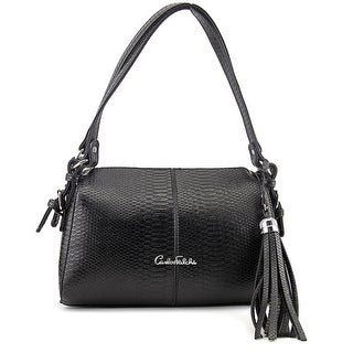 Carlos Falchi Luana Shoulder Women Synthetic Shoulder Bag - Black