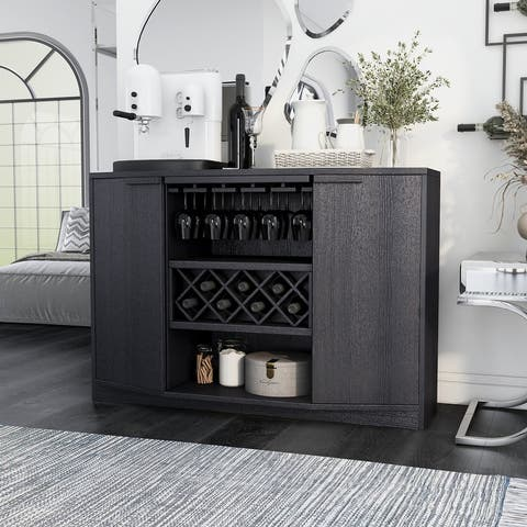 Furniture of America Towe Contemporary 51-inch Wine Bar Buffet