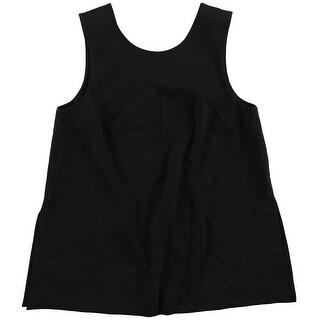 Rachel Roy Womens Slit Back Pullover Blouse, black, Medium
