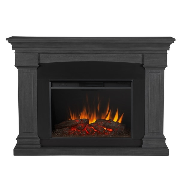 """Real Flame 8290E Deland 5000 BTU / 1500W 63"""" Wide Free Standing Vent-Free Electric Mantel Fireplace with Remote Control"""