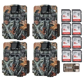 Browning Strike Force Dual Lens Trail Camera (4) with 16GB Card (8) and Reader - Camouflage