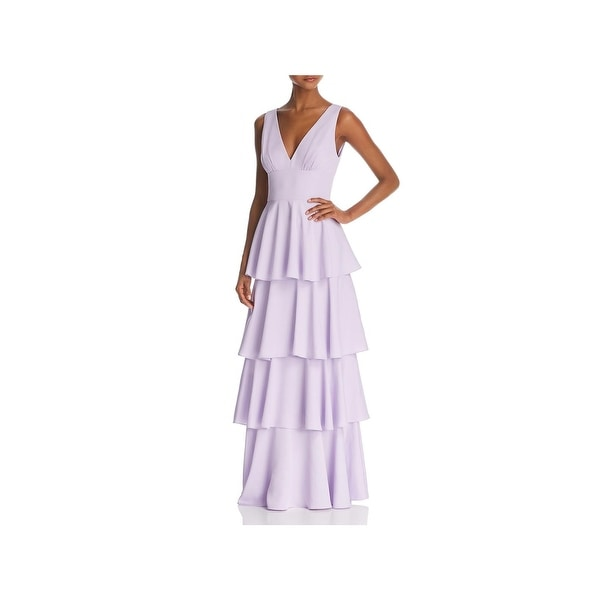 c91698671b9 Shop Nicole Miller New York Womens Formal Dress Tiered V-Neck - Free ...