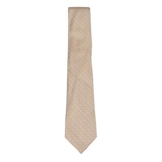 Perry Ellis Men's Andorra Dot Silk Tie (OS, Taupe)
