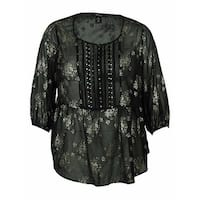 Style & Co Women's Floral Pintucked Blouse