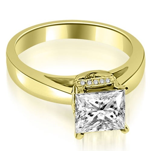 1.05 cttw. 14K Yellow Gold Princess Cut Diamond Engagement Ring