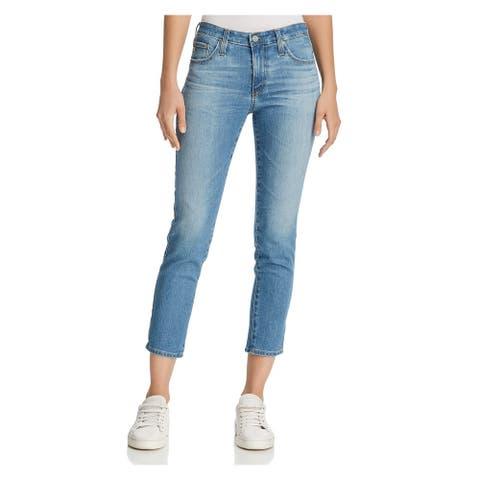 ADRIANO GOLDSCHMIED Womens Blue Skinny Jeans Size 32 Waist