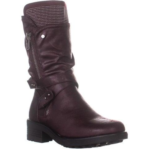 Carlos by Carlos Santana Sawyer 3 Mid Calf Boots, Malbec - 9 US / 39 EU