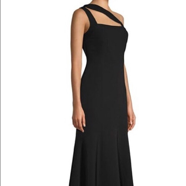 Shop Laundry By Shelli Segal One Shoulder Crepe Gown