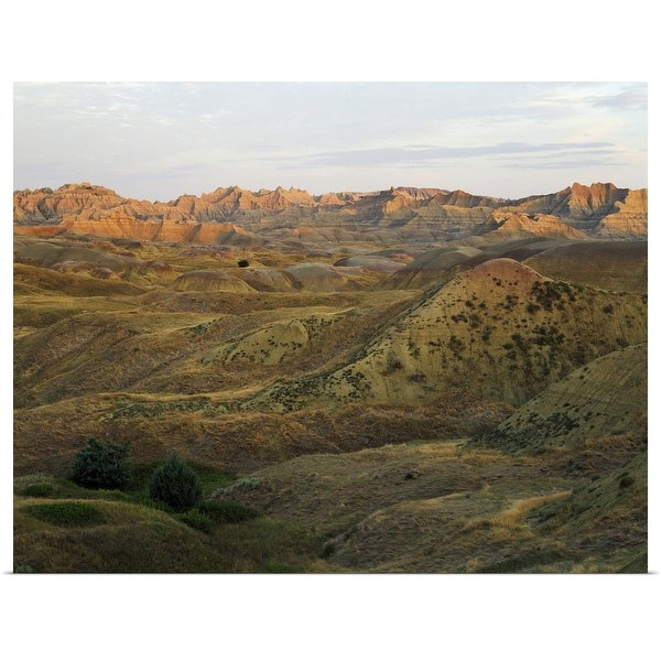 """Yellow Mounds, Badlands National Park, South Dakota"" Poster Print"