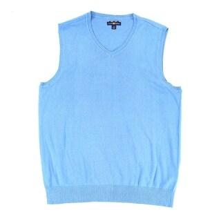 Club Room Cerulean Mens Medium V-Neck Pullover Sweater Vest