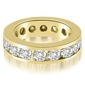 3.40 cttw. 14K Yellow Gold Round Channel Eternity Ring - Thumbnail 0