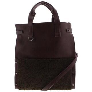 Danielle Nicole Womens Minx Tote Handbag Faux Leather Colorblock - Large
