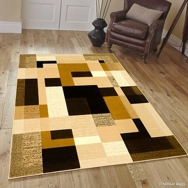 "Allstar Brown Modern Contemporary Casual Area Rug (3' 9"" x 5' 1"")"
