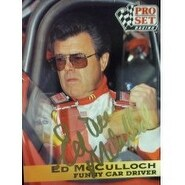 Signed McCulloch Ed 1991 Pro Set Racing Card autographed