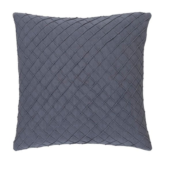 "18"" Soot Gray Woven Decorative Throw Pillow-Down Filler"