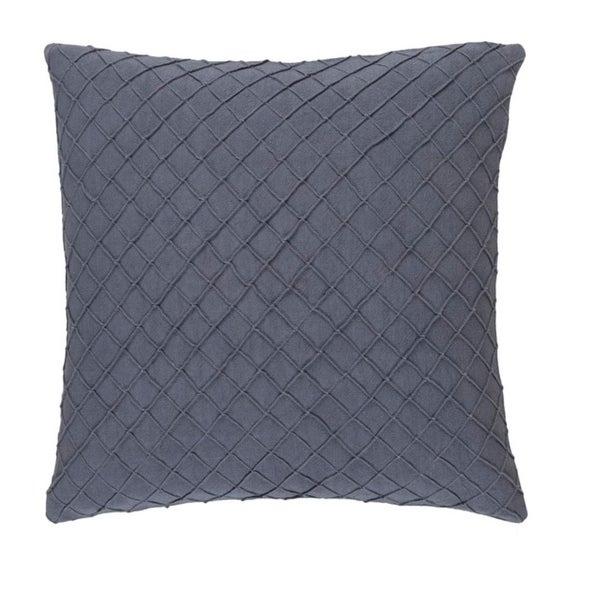 "20"" Soot Gray Woven Decorative Throw Pillow-Down Filler"