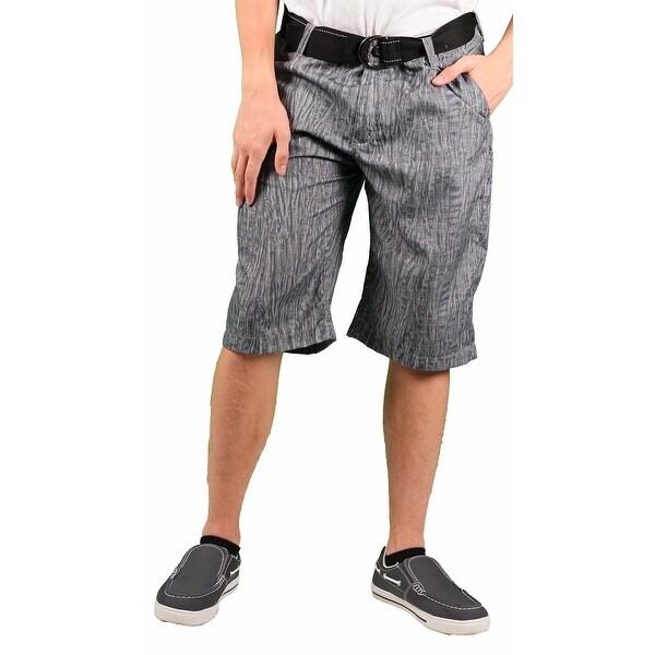 MO7 Men's Woodgrain Belted Casual Short