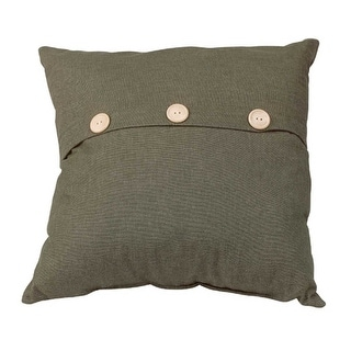 Pillow Green Cotton Poly Blend 17 Square