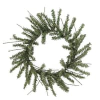 "12"" Mini Vienna Twig Artificial Christmas Wreath - Unlit - green"