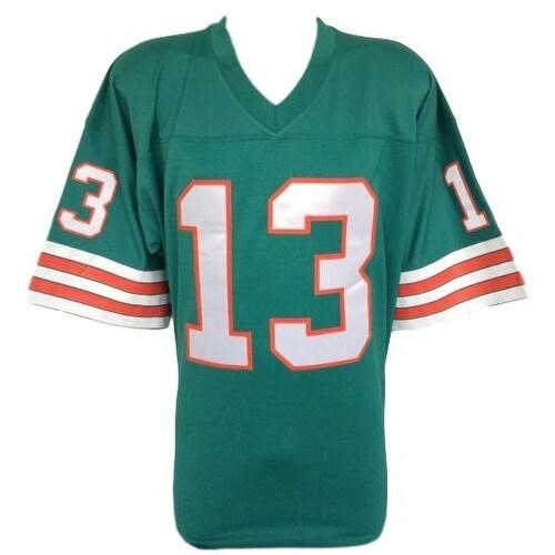 cheaper 8dfe9 d2e37 Dan Marino Signed Miami Dolphins Teal Replica Mitchell & Ness Jersey TriStar