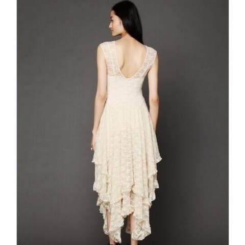 High And Low Lace Sexy Long Dress