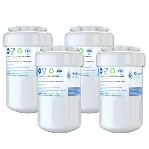 Replacement Water Filter For GE GSH25JSDESS Refrigerator Water Filter - by  Refresh (4 Pack)