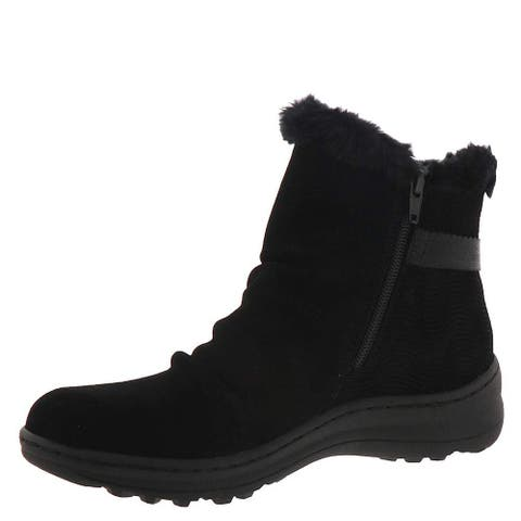 Bare Traps Womens Avita Leather Closed Toe Ankle Cold Weather Boots