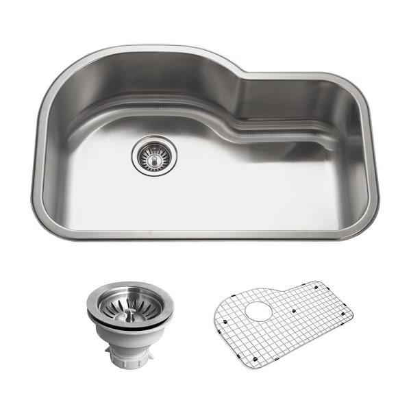 """Houzer BSH-3200 Belleo 32"""" Drop In Single Basin Kitchen Sink - Stainless Steel"""